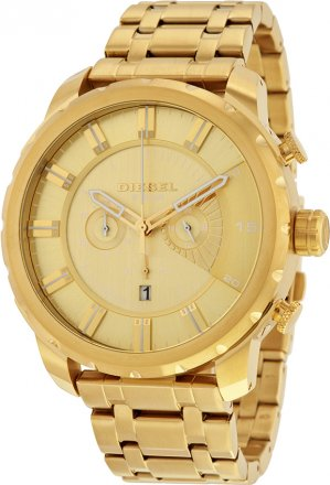 Diesel Stronghold Gold tone Dial Men's Chronograph Watch DZ4376