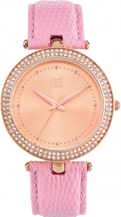 Visetti Pink Leather Strap PE-901RR