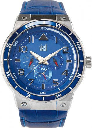 Visetti Super Ocean Men's Blue Leather Strap SN-623SC