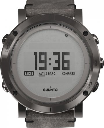 SUUNTO Essential Steel Brown Leather Strap SS021216000