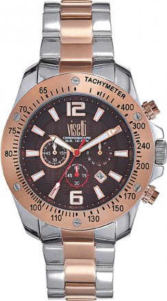 VISETTI Atlantic Two Tone Stainless Steel Chronograph ZE-573SRK