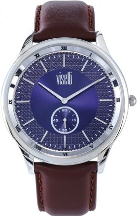 VISETTI Glorious Brown Leather Strap ZE-625SKC