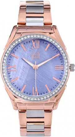 VISETTI Symmetry Series Rose Gold Stainless Steel ZE-977SRP